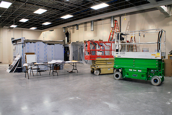 Remodeling of commercial building Interior