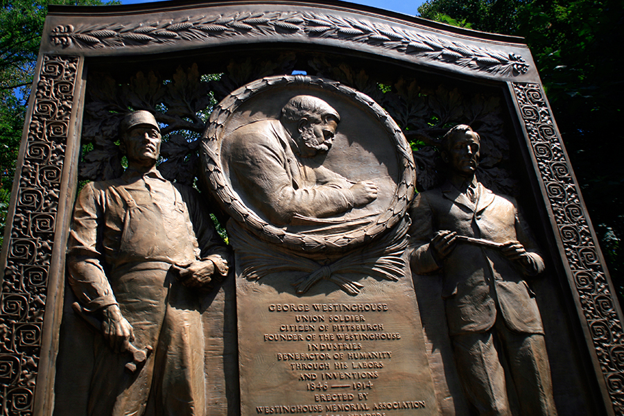 Restoration of antique bronze memorial