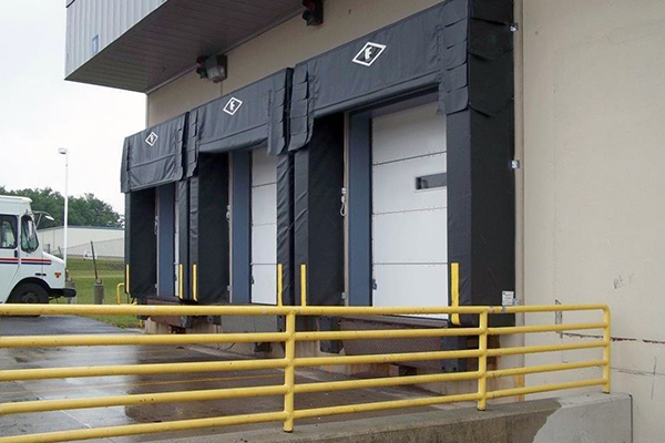 Finished loading dock and new garage doors built and installed at Post Office