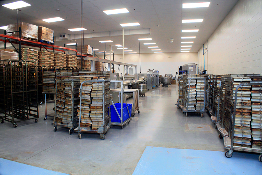 Five Generations Bakers' assembly line and packaging center