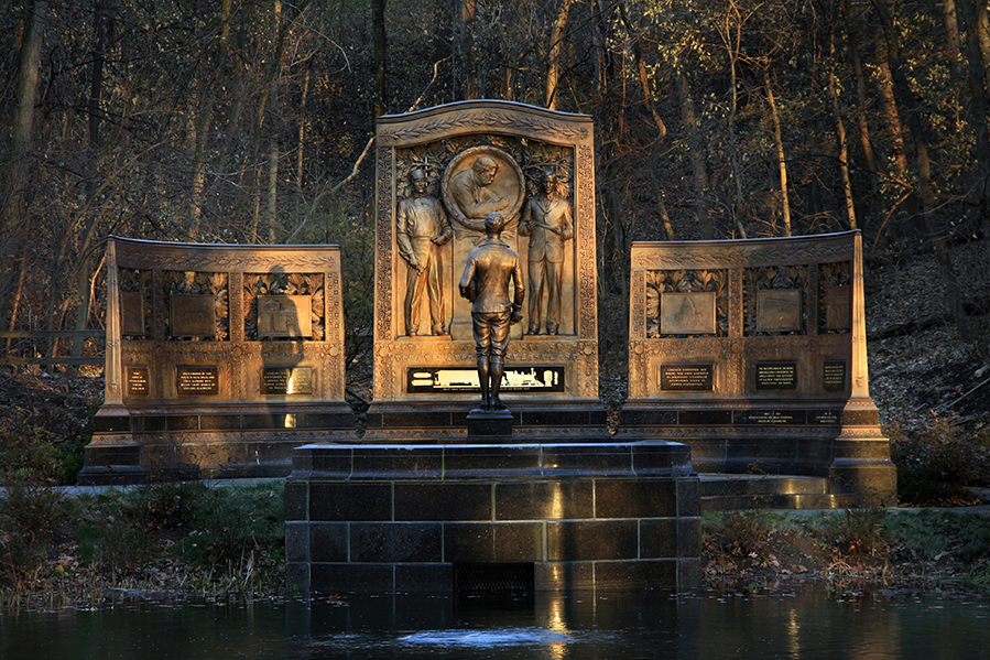 Restored Bronzework on the original George Westinghouse Memorial Park